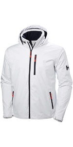 2019 Helly Hansen Kapuzen Crew Mid Layer Jacke WHITE 33874