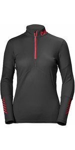 2019 Helly Hansen Dames Lifa Active Half Zip Top Ebbenhout 48335