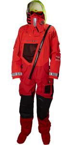 2019 Helly Hansen Aegir Ocean Survival Drysuit Alert Red 31706
