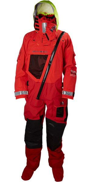 2018 Helly Hansen Aegir Ocean Survival Drysuit Alert Red 31706