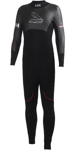 2018 Helly Hansen Backline 3mm Back Zip Flatlock Wetsuit Black 31702
