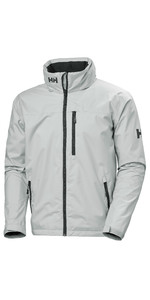 2021 Helly Hansen Mens Crew Hooded Jacket 33875 - Grey Fog
