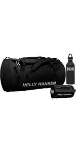 2019 Helly Hansen Hh 50l Duffel Bag 2 Washbag 2 & Mizu M8 Bottle Package Deal - Preto