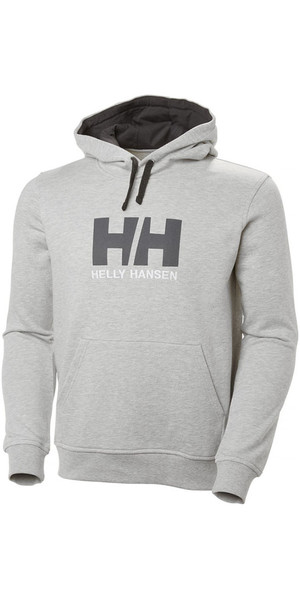 Felpa con cappuccio logo Helly Hansen HH 2019 grigio melange 33977