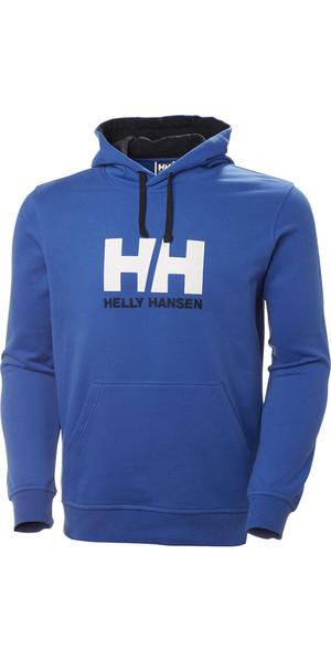 Felpa con cappuccio logo Helly Hansen HH 2019 blu olimpionico 33977