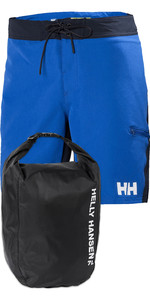 "Helly Hansen Mens HP 9"" Board Shorts & Light 12L Dry Bag Pakke - Olympian Blå"