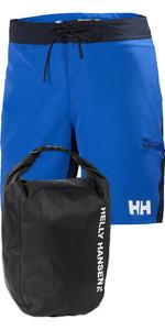 "Helly Hansen Homens Hp 9 ""board Shorts E Luz 12l Pacote Saco Dry - Azul Olímpico"