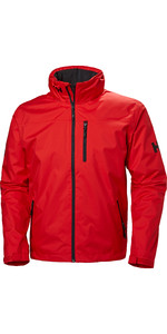 2020 Helly Hansen Crew Hooded Mid Layer Jacket Alert Vermelho 33874