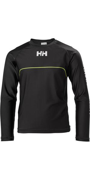 2018 Helly Hansen Junior Rider Long Sleeve Rash Vest Ebony 33919