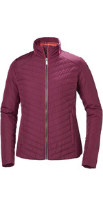 2018 Helly Hansen Ladies Crew Insulator Jacket Plum 53030