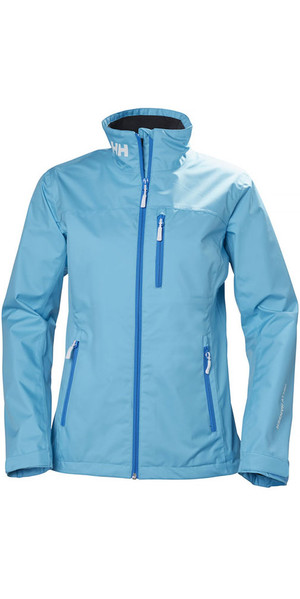 2018 Helly Hansen Womens Crew Jacket Aqua Blue 30297
