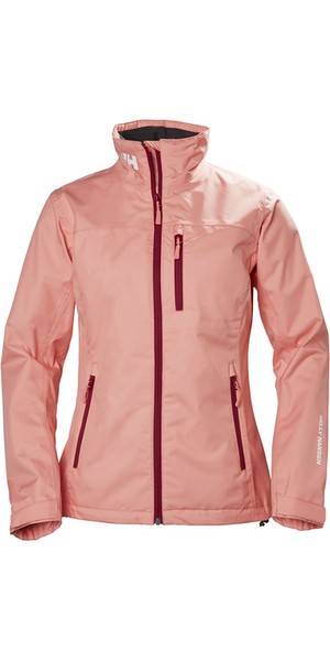 2018 Helly Hansen Womens Crew Jacket Shell Pink 30297