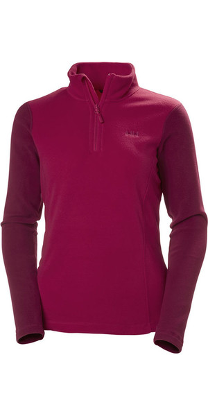 2018 Helly Hansen Damen Daybreaker 1/2 Zip Fleece Persian Red 50845