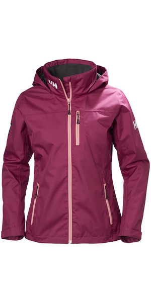 2018 Helly Hansen Womens Crew Hooded Jacket Plum 33899