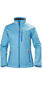 2018 Helly Hansen Ladies Mid Layer Crew Jacket Aqua Blue 30317