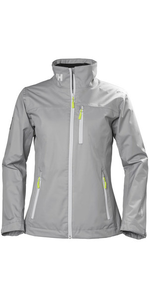 2018 Helly Hansen Womens Mid Layer Crew Jacket Silver Grey 30317