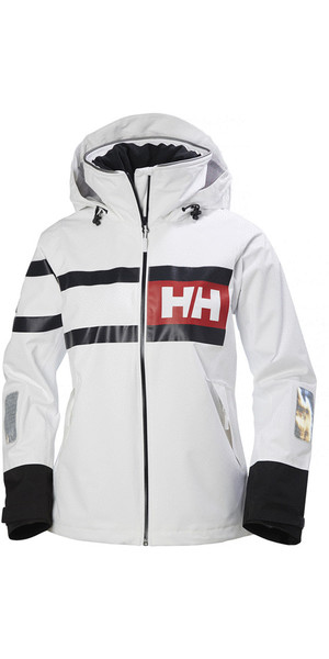 2019 Helly Hansen Womens Salt Power Jacket White / Black 36279
