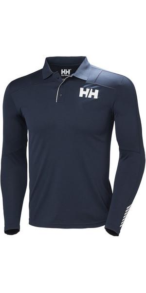 2018 Helly Hansen Lifa Active Light Long Sleeve Polo Navy 48362