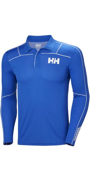 2018 Helly Hansen Lifa Active manica lunga Polo Olympian Blue 48362