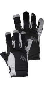 Helly Hansen Long Finger & Short Segelhandschuh Twin Package - Schwarz