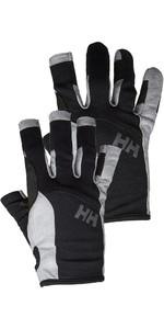 Helly Hansen Long Finger & Short Sailing Luva Twin Package - Preto