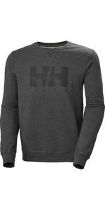 2020 Helly Hansen Heren HH Logo Crew Sweat 34000 - Ebony Melange