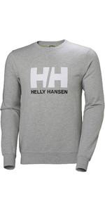 2020 Helly Hansen Hh Logo Hommes Crew Sueur 34000 - Gris Chiné