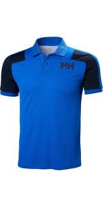 2019 Helly Hansen Lifa Active Light Kurzarm Polo Olympian Blue 49322