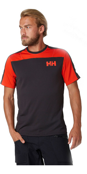 2019 Helly Hansen T-shirt Léger Homme Lifa Active Light à manches courtes Ebony 49330