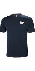 2019 Helly Hansen Mens Lifa Active Light Manga Curta T-Shirt Marinha 49330