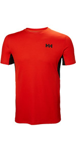 2019 Helly Hansen Mens Lifa Active Mesh T-Shirt Cherry Tomato 49319