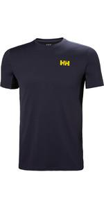 2019 Helly Hansen Lifa Active T-shirt En Mesh Bleu Graphite 49319