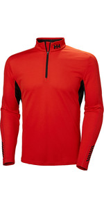 2019 Helly Hansen Lifa Active Mesh 1/2 Zip Top Cherry Tomato 49318