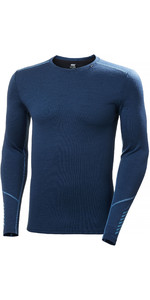Helly Hansen Merino Mid Weight Crew Top 49364 - Blu Mare Del Nord
