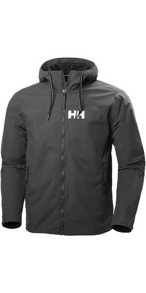 2019 Helly Hansen Herre Rigging Rain Jacket Ebony 64028