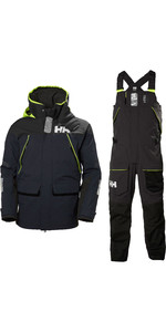 2020 Helly Hansen Mens Skagen Offshore Jacket & Trouser Combi Set - Navy / Ebony