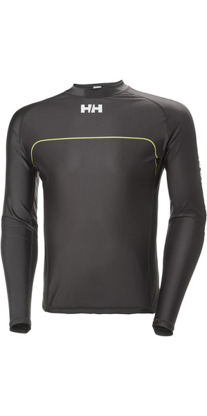 2018 Helly Hansen Rider Long Sleeve Rash Vest Ebony 33916