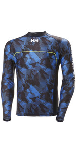 Helly Hansen Rider Lange Mouw Rash Vest Navy 33916