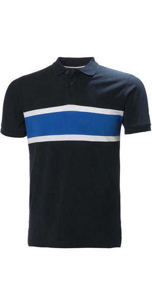 2018 Helly Hansen Salt Polo Shirt Navy Flag 33939