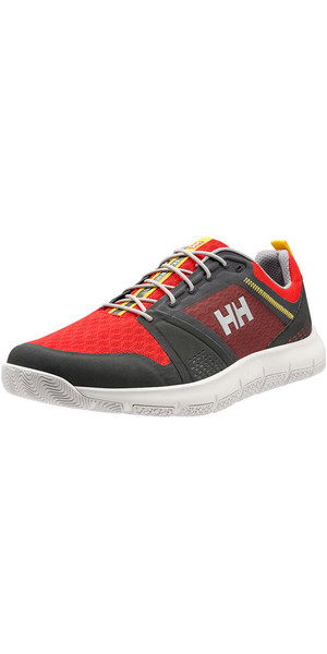 2018 Helly Hansen Skagen F-1 Offshore Sailing Shoe Ebony / Alert Red 11312