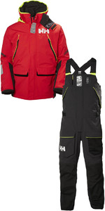 2019 Helly Hansen Skagen Offshore Combi Set Alert Red / Ebony