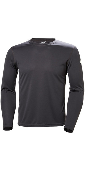 2019 Helly Hansen Tech Crew Long Sleeve Base Layer Ebony 48364