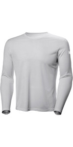 2019 Helly Hansen Tech Crew Långärmad Base Layer Light Gray 48364