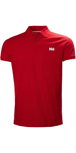 2018 Helly Hansen Transat Polo Shirt Flag Rosso 33980