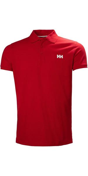 2018 Helly Hansen Transat Polo Shirt Bandera Rojo 33980