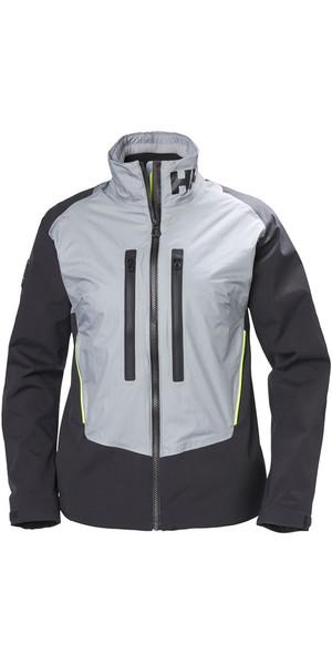 2018 Helly Hansen Womens Aegir H2FLOW Jacket Silver Grey 33922