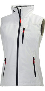 2020 Helly Hansen Mujeres Crew Chaleco Blanco 30290