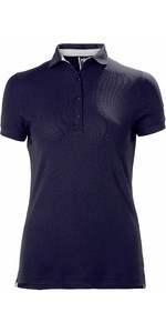 2020 Helly Hansen Womens Crewline Polo Shirt Navy 53049