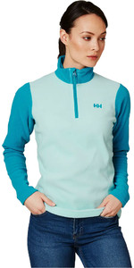 2019 Helly Hansen Daybreaker Das Mulheres 1/2 Zip Fleece Blue Tint 50845