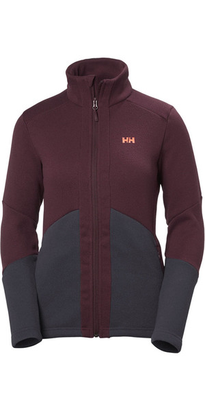 2018 Helly Hansen Womens EQ Black Midlayer Jacket Port 51796